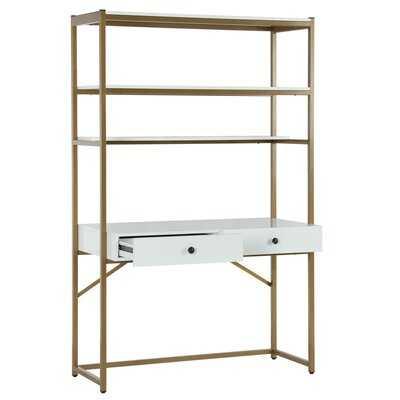 Billie Desk with Hutch - Wayfair