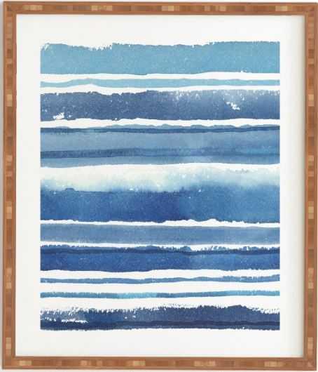 Caribbean shore framed wall art -  white frame - Wander Print Co.