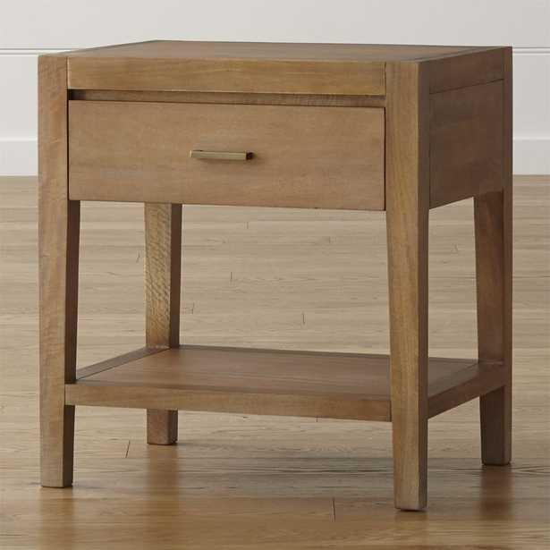 Dawson Grey Wash Nightstand - Crate and Barrel
