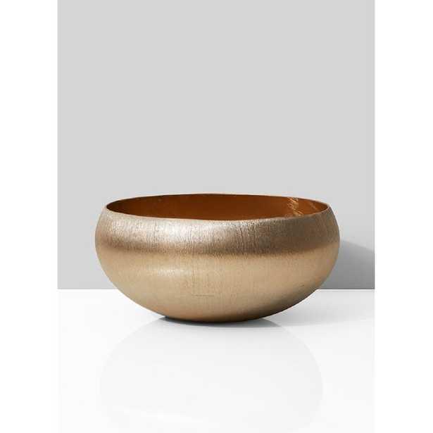 Hinson Metal Decorative Bowl in Gold - Wayfair