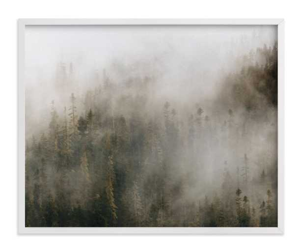 pacific north fog - 20x16 - white wood frame - Minted