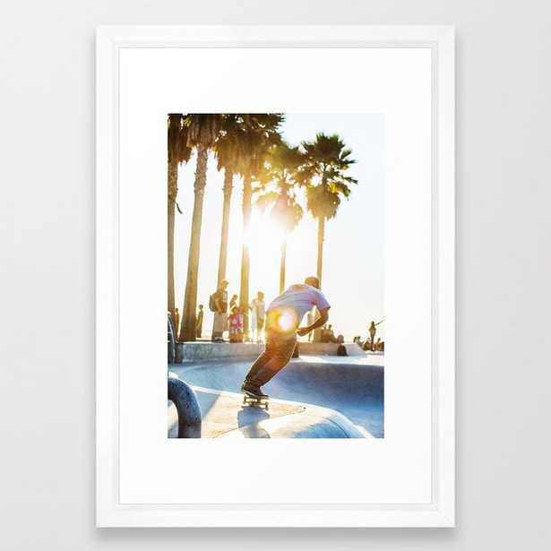 Venice Beach Skate Park 2 Framed Art Print - Society6