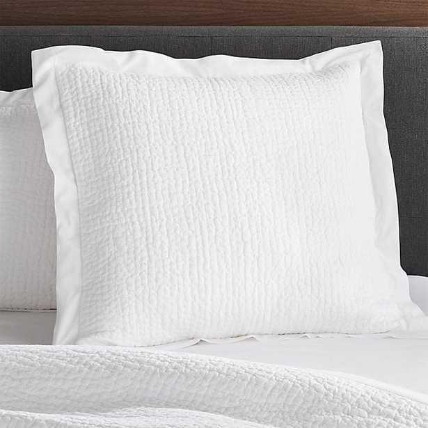 Celeste Euro White Pillow Sham - Crate and Barrel