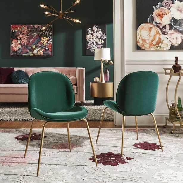Guillemette Velvet Upholstered Side Chair (Set of 2) - Wayfair