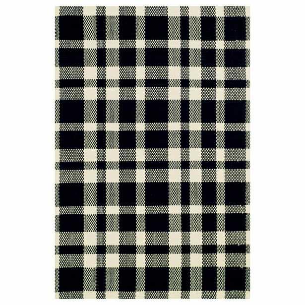 Hand Woven Cotton Black Area Rug - Wayfair