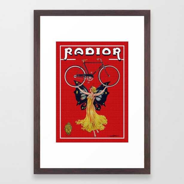 Vintage Radior Bicycle Ad Framed Art Print - Society6