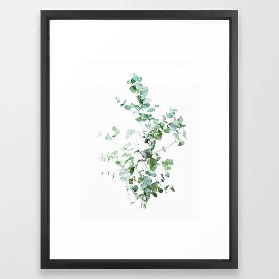 Botanical Framed Art Print 20x26 vector black frame - Society6