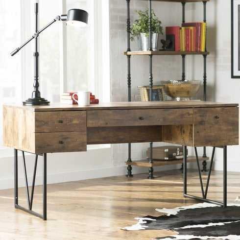 Fallon 4 Drawer Desk - Wayfair