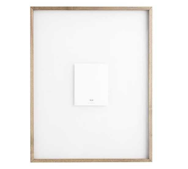 "Floating Wood Gallery Frame, Graywash - 28"" x 36"" - Pottery Barn"