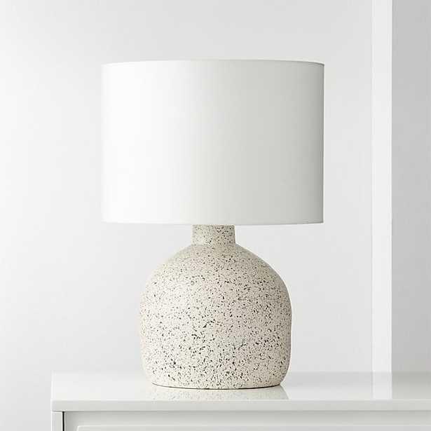 Largo Speckled White Ceramic Table Lamp - CB2
