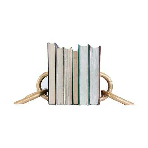 GOLD CHAIN BOOKENDS - McGee & Co.