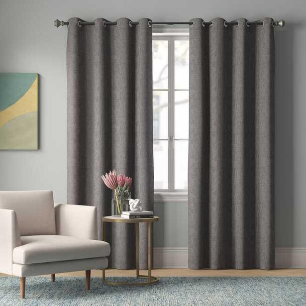 Mike Solid Color Max Blackout Thermal Grommet Curtain Panels - set 2 - Wayfair
