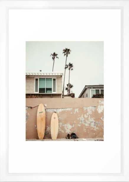 San Diego Surfing Framed Art Print - Society6