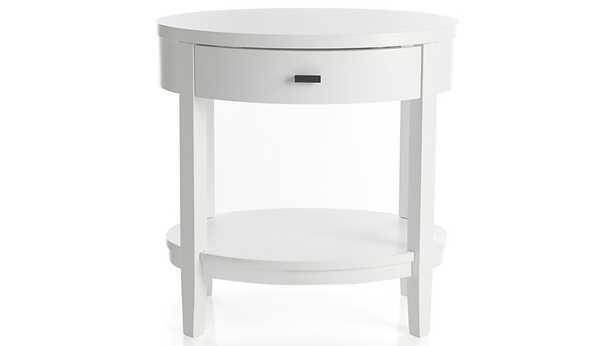Arch White Oval Nightstand - Crate and Barrel