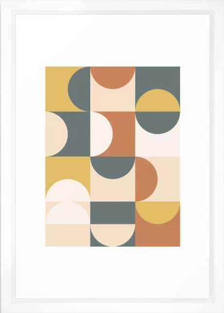 Mid Century Modern Geometric 23 Framed Art Print - Society6