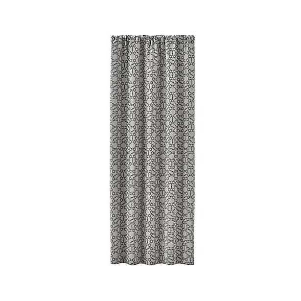 "Roston Geometric Curtain Panel - 50"" x 96"" - Crate and Barrel"