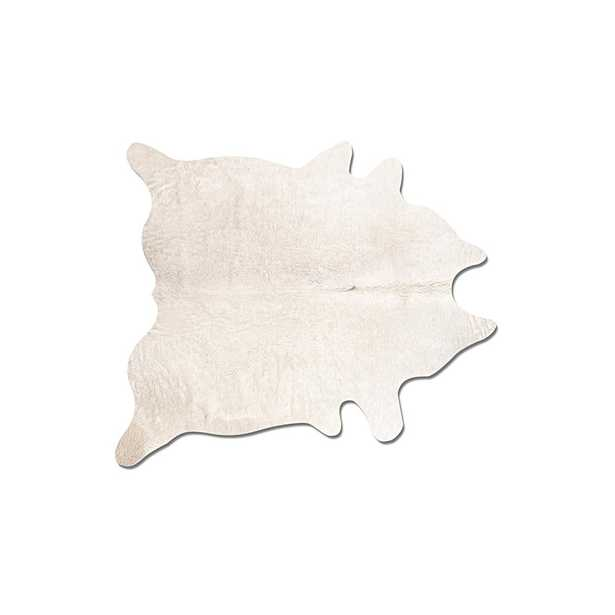 Lifestyle Group Distribution Geneva Off-White (Beige) 6 ft. x 7 ft. Cowhide Area Rug - Home Depot
