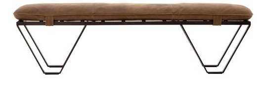 DREW LEATHER BENCH - McGee & Co.