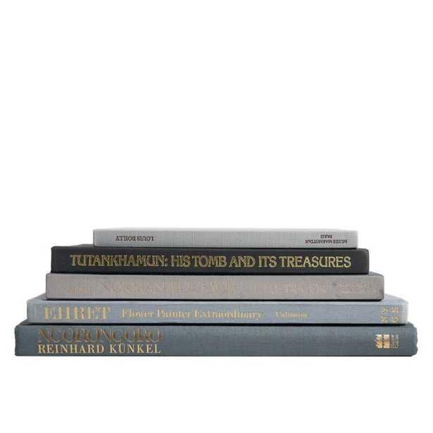 5 PIECE GRANITE COLORSTAK AUTHENTIC DECORATIVE BOOK SET - Perigold