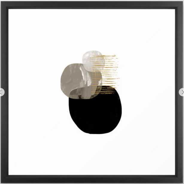 Minimal Tone Framed Art Print - Society6