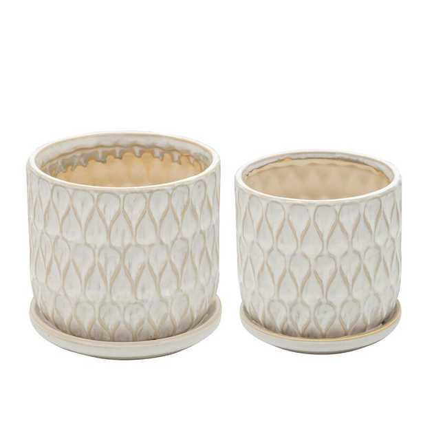 Teardrop 2 - Piece Ceramic Pot Planter Set (Set of 2) - Wayfair