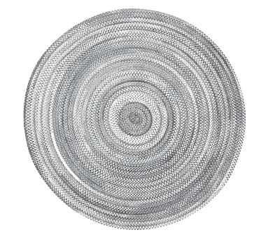 Capel Custom Braid Round Rug, Grey, 5' Round - Pottery Barn Kids