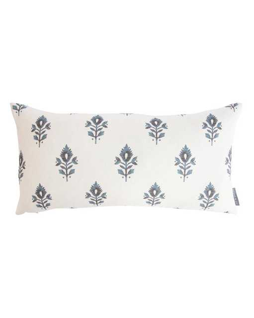 """ADDISON BLOCK PRINT PILLOW COVER WITHOUT INSERT, 12"""" x 24"""" - McGee & Co."""