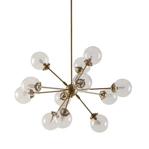 Gold Asher 12 - Light Sputnik Sphere Chandelier - AllModern