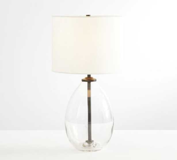 Bennett Recycled Glass Table Lamp, Bronze, Small - Pottery Barn