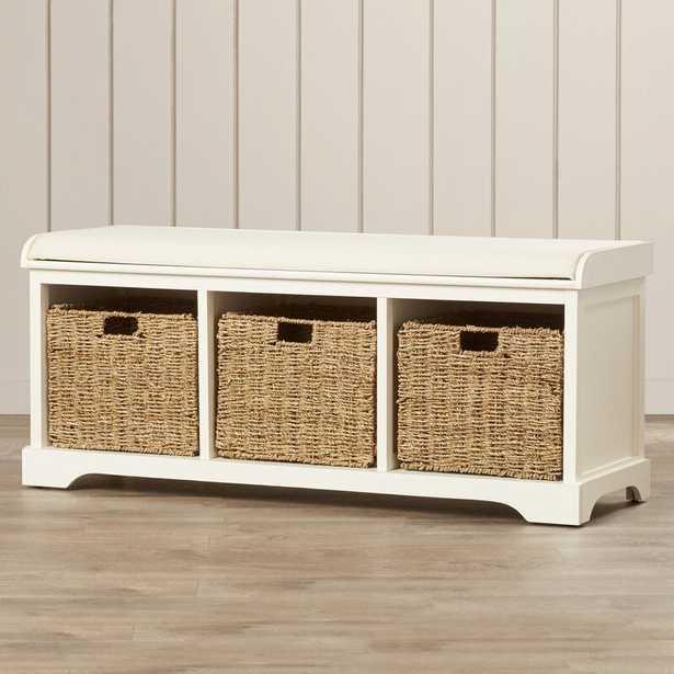 Santa Cruz Upholstered Cubby Storage Bench / White - Wayfair