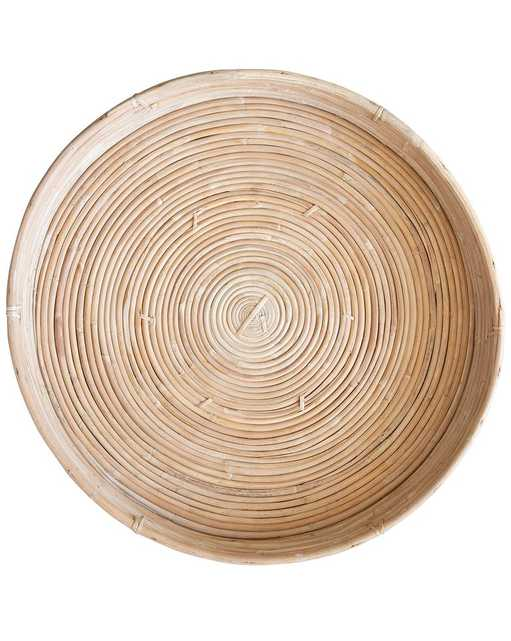 CANE RATTAN ROUND LARGE TRAY - McGee & Co.