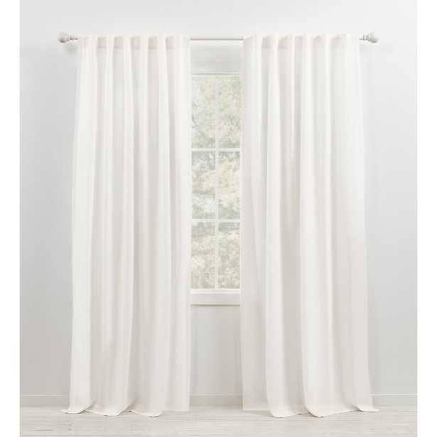 "Leanne Semi-Sheer Rod Pocket Single Curtain Panel - 96""L - Wayfair"