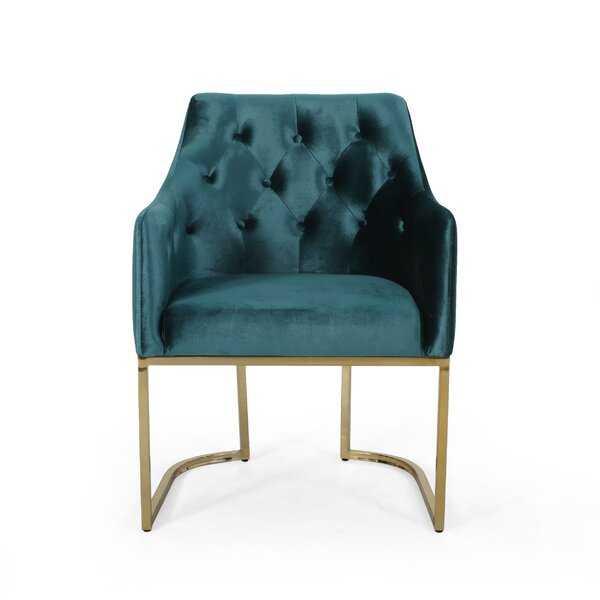 Poynor Modern Tufted Glam Accent Armchair - Wayfair