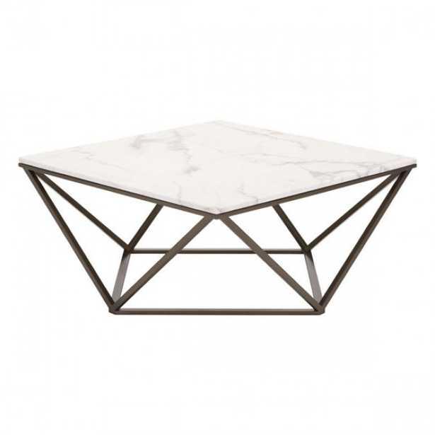 Tintern Coffee Table Stone & A. Brass - Zuri Studios
