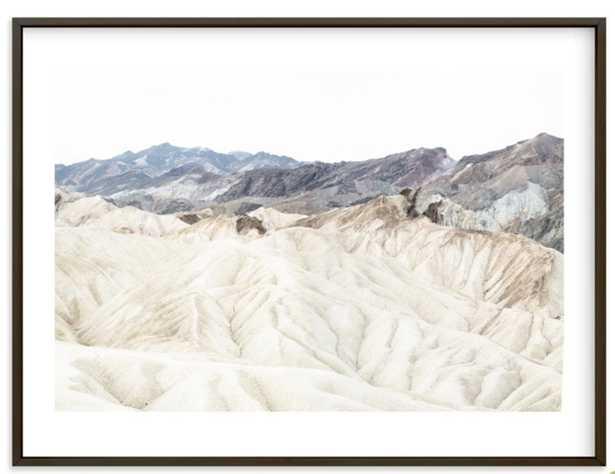 """white canyon 4 30"""" x 40"""" Matte Black Frame White Border - Minted"""