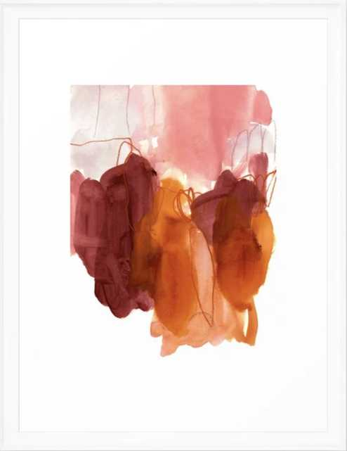 abstract painting X Framed Art Print - Society6