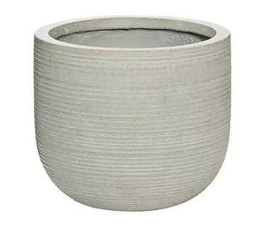 Clarion Round Fiberstone Pot Planter - Wayfair