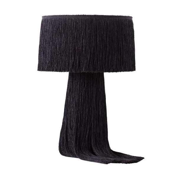 Hannah Black Tassel Table Lamp - Maren Home