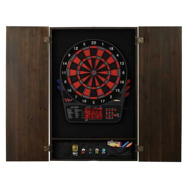Espresso Viper Electronic Dartboard and Cabinet Set with Darts - Wayfair