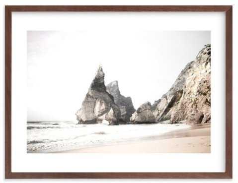 Praia da Ursa- White Border, Walnut Wood Frame - Minted