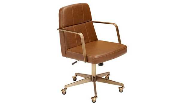 Draper Faux Leather Office Chair - CB2