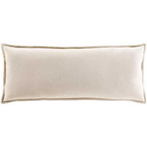 """Gabrielle Pillow Cover, 12""""x 30"""", Beige - Studio Marcette"""