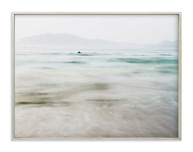 """the pacific - 40"""" x 30"""" - champagne silver - Minted"""