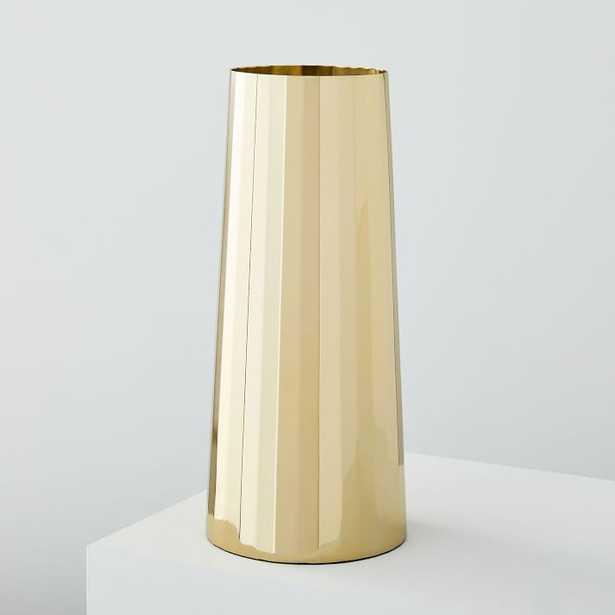 Foundations Metal Vases- Brass, large - West Elm