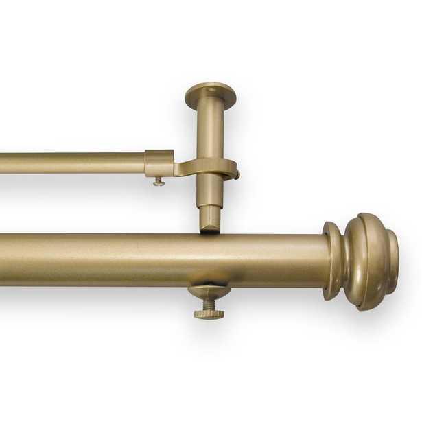 """Queenstown Adjustable Double Curtain Rod- gold 90"""" - Wayfair"""