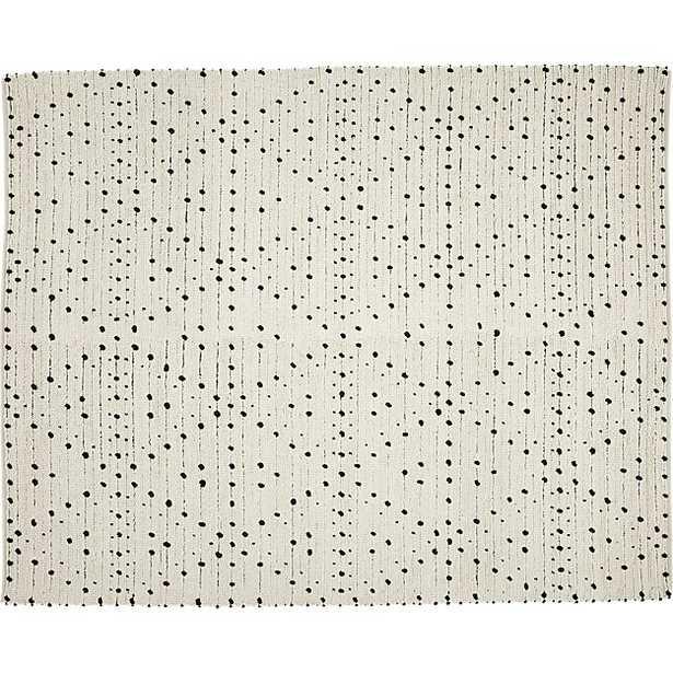 Orville black dot rug 8'x10' - CB2