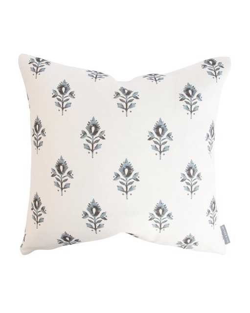 """ADDISON BLOCK PRINT PILLOW WITHOUT INSERT, 20"""" x 20"""" - McGee & Co."""