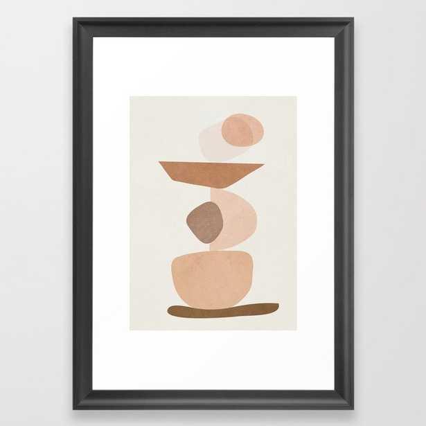 "Balancing Elements II Framed Art Print, 15"" x 21"", Scoop Black Frame - Society6"