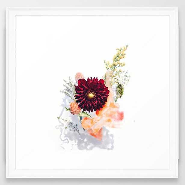 """Framed Art Print - Flower Bouquet #2 - Scoop White Frame - 22"""" X 22"""" - Society6"""