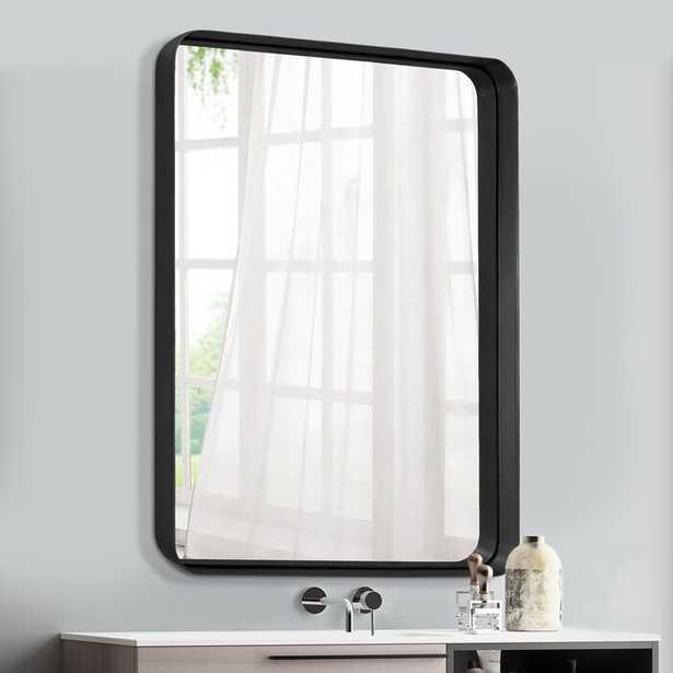 "Mcvay Metal Beveled Venetian Wall Mounted Mirror - Matte Black - 36"" x 24"" - Wayfair"